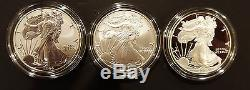 2006 American Eagle 20th Anniversary Silver Coin Set Reverse Proof Complete