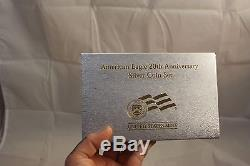 2006 American Eagle 20th Anniversary Silver Coin Set Uncircuated, Proof, Reverse
