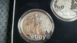 2006 P Reverse Proof Silver Eagle 3 Coin 20th Anniversary Set W Box/coa