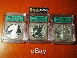 2006 P Reverse Proof Silver Eagle Icg W Sp70 W Pr70 P Rp70 20th Anniversary Set