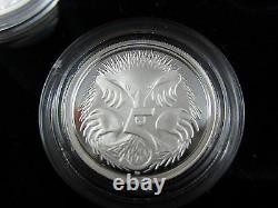 2006 RAM Australian FINE SILVER PROOF SET. Unique silver 1 and 2 cents. 99.9%