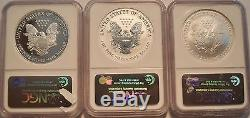 2006 WP 20th Anniversary Set PROOF $ NGC MS PF70 MS69 American Silver Eagle 1 oz