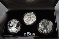 2006-W 3 Coin American Silver Eagle 20th Anniversary Set with Reverse Proof RP ASE