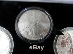 2006 W P American Eagle 20th Anniversary Silver Coin Set (with REVERSE PROOF)