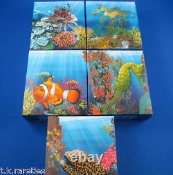 2009/10 Australian Sea Life I The Reef 5 Five Silver Proof Coin Set SUPERB SET