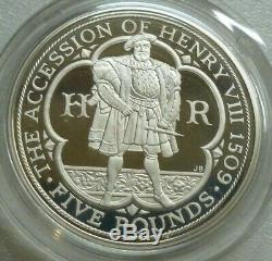 2009 Piedfort Sterling Silver Proof 4 Coin Set Kew Gardens 50p, Henry VIII £5