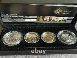2009 Silver Proof Piedfort Coin Set Royal Mint Includes Kew Gardens 50p
