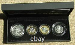 2009 silver proof, Piedfort set, includes KEW GARDENS 50p