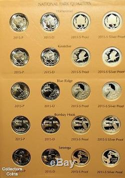2010- 2015 ATB National Park 120 Quarter Set wClad/Silver Proofs & Dansco Album