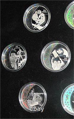 2010 Canada Vancouver Winter Olympics silver dollar Hologram coin set 15 x $25