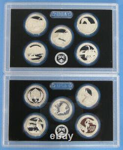 2010 thru 2018 2019 and 2020 Silver Proof America the Beautiful 55 coin Set