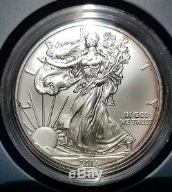 2011 American Eagle 25th Anniversary Silver 5 Coin Set with Reverse Proof