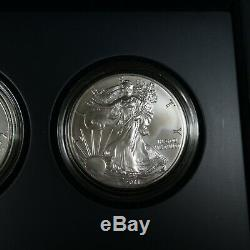 2011 American Eagle 25th Anniversary Silver 5 Coin Set with Reverse Proof #24664Q