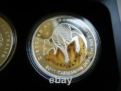 2011 Discover Australia, The Dreaming Series, 1oz Silver Proof 5 Coin Set