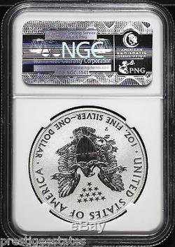 2011-P NGC PF-70 REVERSE PROOF 25th ANNIVERSARY SET ONE OZ SILVER AMERICAN EAGLE