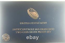 2012S American Eagle San Francisco Two Coin Silver Proof and Reverse Proof set
