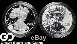 2012 American Eagle Silver Dollar, San Francisco 2-Coin Silver Proof Set