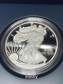 2012 American Eagle US Mint San Francisco 2 Coin Silver Proof Reverse Proof Set