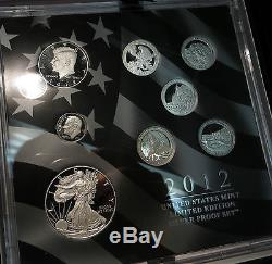 2012 Limited Edition Silver Proof Set- with Box and Certificate