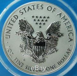 2012-S Reverse & Proof 2 Coin Set ANACS PR70 DCAM Silver Eagle 1st Day Issue