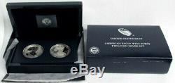 2012 S Silver American Eagle San Francisco 2 Coin Proof Set Original Box Coa
