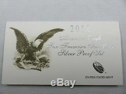 2012 US Mint American Eagle San Francisco Two Coin Silver Reverse Proof Set