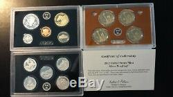 2012 United States Mint Silver Proof Set with Box and COA