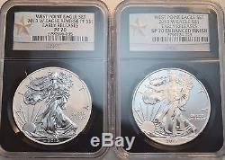 2013 W $1 NGC PF SP 70 Enhanced Finish Reverse PROOF West Point Silver Eagle Set