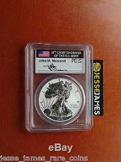 2013 W Reverse Proof Silver Eagle Pcgs Pr69 Mercanti From West Point Set