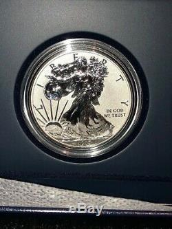 2013 W Reverse Proof Enhanced Silver Eagle 2 Coin West Point Set With Box/coa