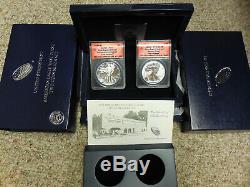 2013-W Silver Eagle West Point Set Reverse & Enhanced Proof ANACS RP70-EU70