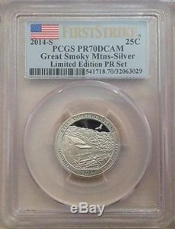 2014 Limited Edition Silver Proof Set PCGS PR70 DCAM 8 Coin Set First Strike