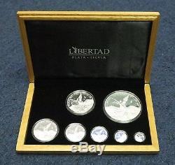 2014 Mexico Libertad 7-Coin Silver Proof Set with COA + Case