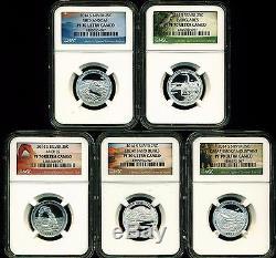2014 S Proof Silver Quarter Set Ngc Pf70 Uc Atb National Parks Ultra Cameo