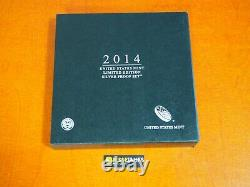 2014 W Proof Silver Eagle Limited Edition Proof Set In Ogp
