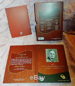 2015 COIN & CHRONICLES HARRY S TRUMAN SET. 999 Silver Medal Reverse Proof Dollar