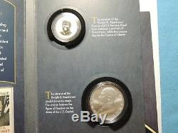 2015 Dwight D Eisenhower Coin and Chronicles Set Reverse Proof $1+Silver Medal