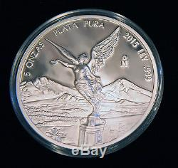2015 Libertad 7 Coin Silver Proof Set Low Mintage 250 Gem BU With No Reserve