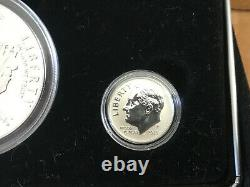 2015 March of Dimes Special Silver Set $1 + 10 Cent 3 Coins W + P DM5