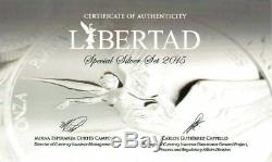 2015 Mexican Libertad Special Silver Set Only 500 Minted! Proof/ Reverse Proof