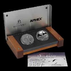 2015 Mexico 2-Coin Silver Libertad Proof/Reverse Proof Set SKU #91150