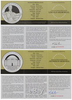 2015 Niue $2 1 Oz Silver National Monuments 4-Coin Set Gem Proof In OGP SKU37799