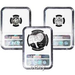 2015 Proof Silver March of Dimes 3pc. Set NGC PF70 Early Releases Blue ER Label