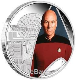 2015 Star Trek Series Enterprise & Jean-Luc Picard 1oz Silver Proof 2 Coin Set