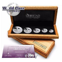 2016 5 piece Silver Mexico Libertad Official Proof Set