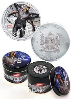 2016 Fiji $1 1 Oz Proof Silver Marvel Capt America Civil War 6-Coin Set SKU40740