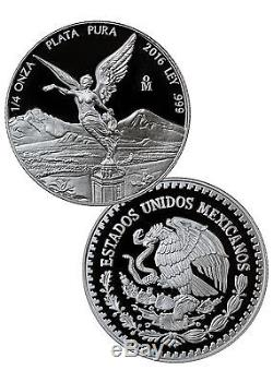 2016 Mexico Proof Silver Libertad Onza (5-Coin Set) In Mint Packaging SKU41628