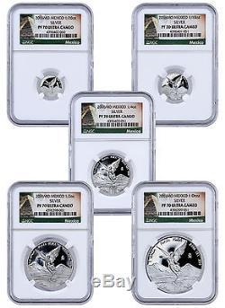 2016 Mexico Proof Silver Libertad Onza Set of 5 Coins NGC PF70 UC ER SKU41630