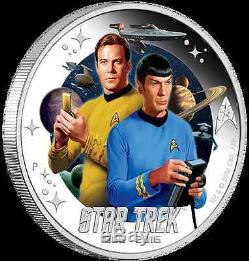 2016 Star Trek 50th Anniversary Kirk Spock Silver Proof Two-Coin Set Perth Mint