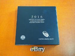 2016 W Proof Silver Eagle Limited Edition Proof Set In Ogp